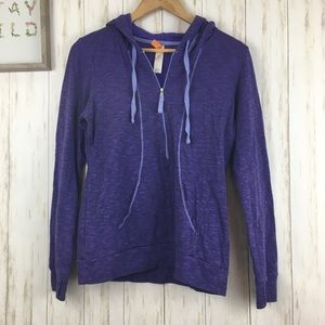 Lucy Purple quarter zip hooded sweatshirt Sz m